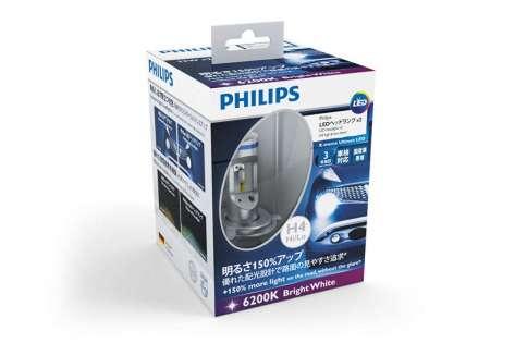Набор светодиодов Philips H4 6200K