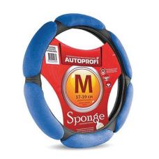 Оплетка руля AUTOPROFI замша (6 подушечек) M черно-синий SP-5026 BK/BL 808946 0806741