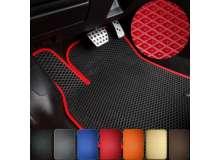 Ковры салона Lada Vesta EVA черные+красный кант