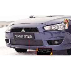 Защита бампера Mitsubishi Lancer 10 (2007-2010) зимняя