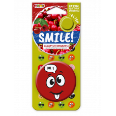 "Ароматизатор Fouette ""Smile"" на зеркало пластик задорная вишенка SM-05 445575"