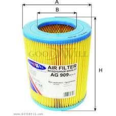 Фильтр воздушный AG909 Газель 2,5,Соболь 2,5 FA025 481392 375618
