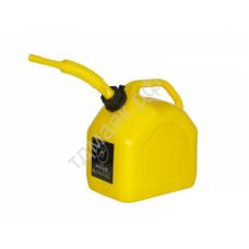 Канистра 5л пластик желтая 5лж