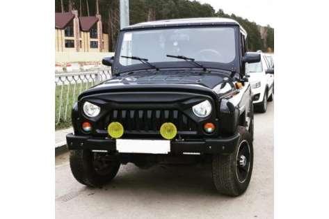 Облицовка радиатора УАЗ 31512, Хантер пластиковая (Злая) 3153-8401112