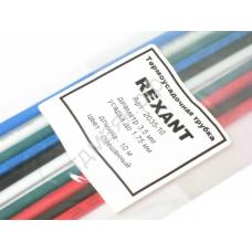 Трубка термоусадочная 3,5 мм REXANT MIX (1м) 2035-10